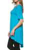 Short Sleeve Basic Hi-Low Tunic Top - BodiLove | 30% Off First Order  - 68