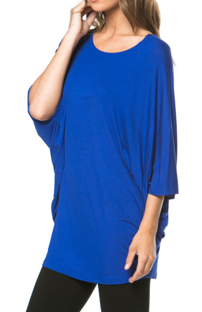 3/4 Batwing Sleeve Oversize Knit Tunic - BodiLove | 30% Off First Order  - 12