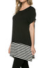 Short Sleeve Knit Tunic W/ Striped Hem - BodiLove | 30% Off First Order  - 3