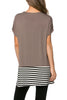 Short Sleeve Knit Tunic W/ Striped Hem - BodiLove | 30% Off First Order  - 5