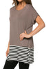 Short Sleeve Knit Tunic W/ Striped Hem - BodiLove | 30% Off First Order  - 6