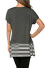 Short Sleeve Knit Tunic W/ Striped Hem - BodiLove | 30% Off First Order  - 8