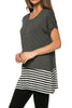 Short Sleeve Knit Tunic W/ Striped Hem - BodiLove | 30% Off First Order  - 9