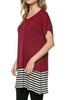 Short Sleeve Knit Tunic W/ Striped Hem - BodiLove | 30% Off First Order  - 18