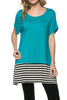 Short Sleeve Knit Tunic W/ Striped Hem - BodiLove | 30% Off First Order  - 22