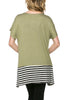 Short Sleeve Knit Tunic W/ Striped Hem - BodiLove | 30% Off First Order  - 26