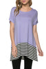Short Sleeve Knit Tunic W/ Striped Hem - BodiLove | 30% Off First Order  - 28