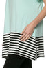 Short Sleeve Knit Tunic W/ Striped Hem - BodiLove | 30% Off First Order  - 36