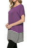Short Sleeve Knit Tunic W/ Striped Hem - BodiLove | 30% Off First Order  - 42