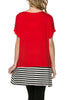 Short Sleeve Knit Tunic W/ Striped Hem - BodiLove | 30% Off First Order  - 44