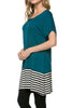 Short Sleeve Knit Tunic W/ Striped Hem - BodiLove | 30% Off First Order  - 51
