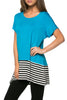 Short Sleeve Knit Tunic W/ Striped Hem - BodiLove | 30% Off First Order  - 54