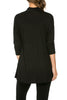 3/4 Sleeve Draped Cowl Neck Top - BodiLove | 30% Off First Order  - 2