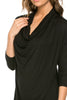 3/4 Sleeve Draped Cowl Neck Top - BodiLove | 30% Off First Order  - 4