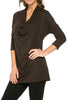 3/4 Sleeve Draped Cowl Neck Top - BodiLove | 30% Off First Order  - 7