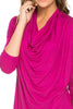 3/4 Sleeve Draped Cowl Neck Top - BodiLove | 30% Off First Order  - 20