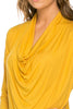 3/4 Sleeve Draped Cowl Neck Top - BodiLove | 30% Off First Order  - 24