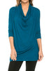 3/4 Sleeve Draped Cowl Neck Top - BodiLove | 30% Off First Order  - 29