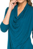 3/4 Sleeve Draped Cowl Neck Top - BodiLove | 30% Off First Order  - 32