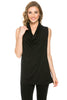 Sleeveless Cowl Neck Tunic Top - BodiLove | 30% Off First Order  - 1