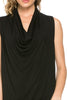 Sleeveless Cowl Neck Tunic Top - BodiLove | 30% Off First Order  - 4
