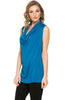 Sleeveless Cowl Neck Tunic Top - BodiLove | 30% Off First Order  - 7