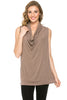 Sleeveless Cowl Neck Tunic Top - BodiLove | 30% Off First Order  - 9