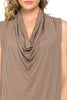 Sleeveless Cowl Neck Tunic Top - BodiLove | 30% Off First Order  - 12