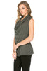 Sleeveless Cowl Neck Tunic Top - BodiLove | 30% Off First Order  - 15