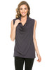 Sleeveless Cowl Neck Tunic Top - BodiLove | 30% Off First Order  - 28