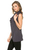 Sleeveless Cowl Neck Tunic Top - BodiLove | 30% Off First Order  - 30