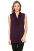 Sleeveless Cowl Neck Tunic Top - BodiLove | 30% Off First Order  - 32