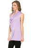 Sleeveless Cowl Neck Tunic Top - BodiLove | 30% Off First Order  - 50