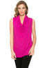 Sleeveless Cowl Neck Tunic Top - BodiLove | 30% Off First Order  - 60