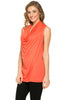 Sleeveless Cowl Neck Tunic Top - BodiLove | 30% Off First Order  - 70
