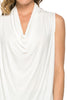 Sleeveless Cowl Neck Tunic Top - BodiLove | 30% Off First Order  - 75