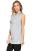 Sleeveless Cowl Neck Tunic Top - BodiLove | 30% Off First Order  - 86