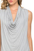 Sleeveless Cowl Neck Tunic Top - BodiLove | 30% Off First Order  - 87