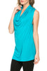Sleeveless Cowl Neck Tunic Top - BodiLove | 30% Off First Order  - 90