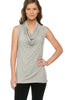 Sleeveless Cowl Neck Tunic Top - BodiLove | 30% Off First Order  - 36