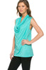 Sleeveless Cowl Neck Tunic Top - BodiLove | 30% Off First Order  - 64