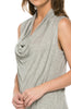Sleeveless Cowl Neck Tunic Top - BodiLove | 30% Off First Order  - 39