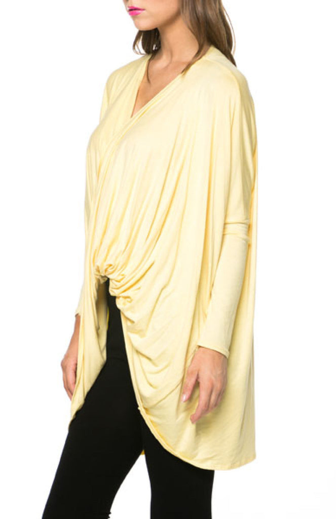 Long Sleeve Draped Criss Cross Front Top - BodiLove | 30% Off First Order  - 11