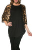 Oversized 3/4 Batwing Sleeve Tunic Top - BodiLove | 30% Off First Order  - 3