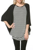 Oversized 3/4 Batwing Sleeve Tunic Top - BodiLove | 30% Off First Order  - 15