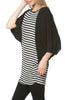 Oversized 3/4 Batwing Sleeve Tunic Top - BodiLove | 30% Off First Order  - 17