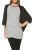 Oversized 3/4 Batwing Sleeve Tunic Top - BodiLove | 30% Off First Order  - 23