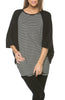 Oversized 3/4 Batwing Sleeve Tunic Top - BodiLove | 30% Off First Order  - 27