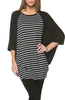 Oversized 3/4 Batwing Sleeve Tunic Top - BodiLove | 30% Off First Order  - 31