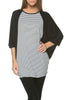 Oversized 3/4 Batwing Sleeve Tunic Top - BodiLove | 30% Off First Order  - 43